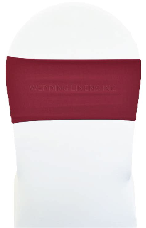 burgundy spandex stretch chair bands sashes