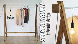 Garderobe Aus Rohren : kleiderstange selber bauen aus rohren diy garderobe mit industrial lampe easy alex youtube ~ Watch28wear.com Haus und Dekorationen