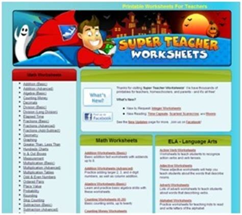 Super Teacher Worksheets  Printable Worksheets