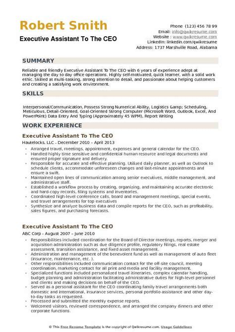 Executive Assistant Resume by Executive Assistant To Ceo Resume Sle Bijeefopijburg Nl