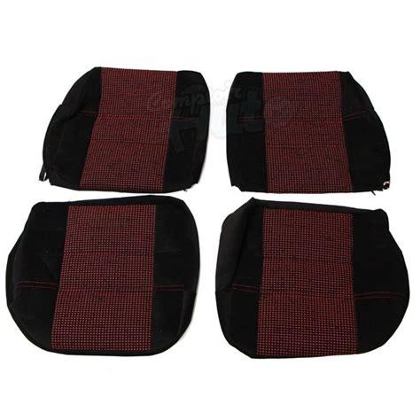 refection siege 205 gti coiffes de siège avant et banquette arrière en tissu noir côtelé et tissu quartet 205 cti
