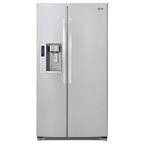 samsung counter depth refrigerator side by side shop lg 23 5 cu ft side by side counter depth refrigerator