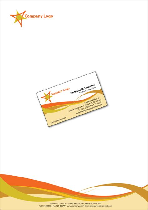 illustrator templates business cards  letterheads