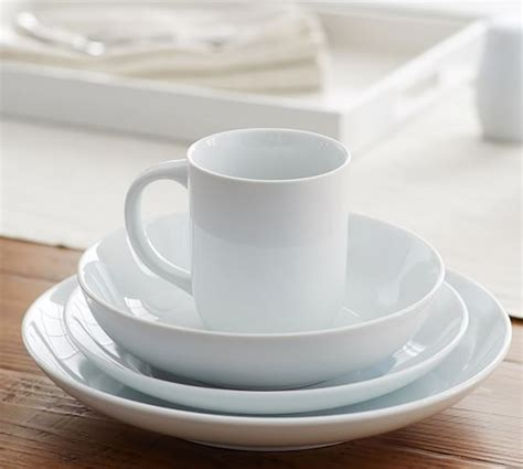 pottery barn white dishes great white coupe dinnerware pottery barn