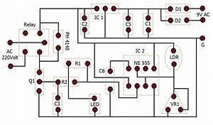 Automatic Street Light Controller Circuit Diagram