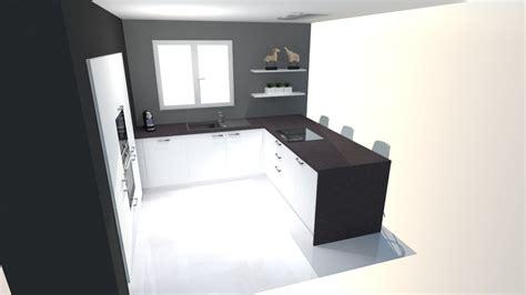 plans cuisine ouverte cuisine en u ouverte sur salon decoration idee deco