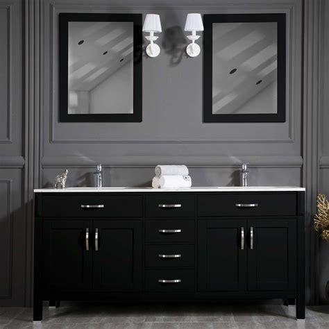 woodbridge 72 inch black sink bathroom cabinet