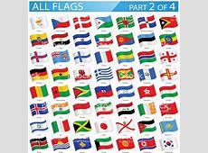 Wszystkie Flagi Państw światamachający Ikonyilustracja