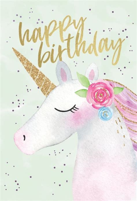 happy unicorn birthday card  unicorn birthday