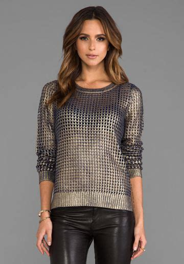 Bardot Metallic Sweater Estilo Moda~ Pinterest