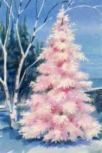 retro light pink christmas tree christmas pinterest