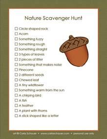 Camping Scavenger Hunt List Printable