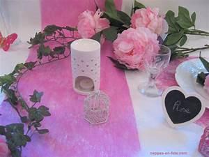 Chemin De Table Rose Pale : decoration mariage rose pale et gris id es et d ~ Teatrodelosmanantiales.com Idées de Décoration