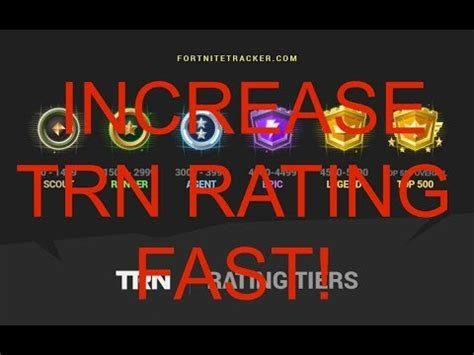 increase  trn rating fortnite tracker rating