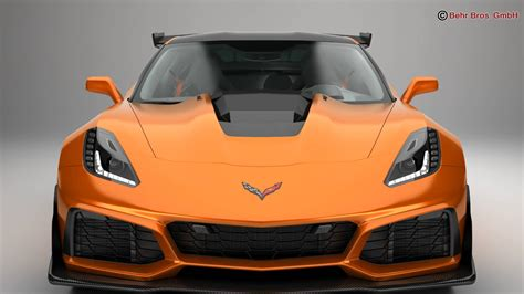 2019 Chevrolet Models by Chevrolet Corvette Zr1 2019 3d Model
