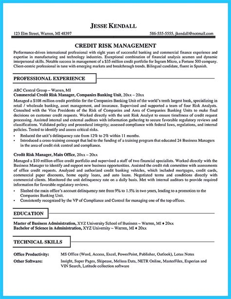 Credit Analyst Resume Template by Cool Credit Analyst Resume Exle From Professional