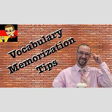 German Vocabulary Memorization Tips  German Learning Tips