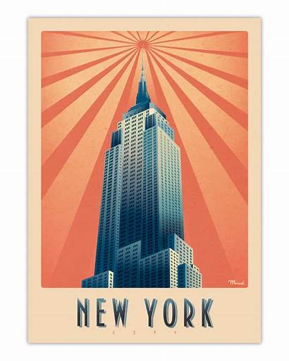York Empire State Building Marcel Affiche Poster