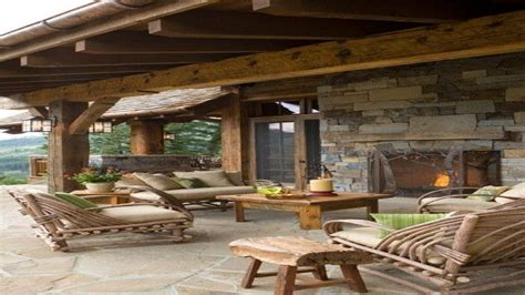 rustic patio covers decor bohemian style room concrete patio ideas rustic covered