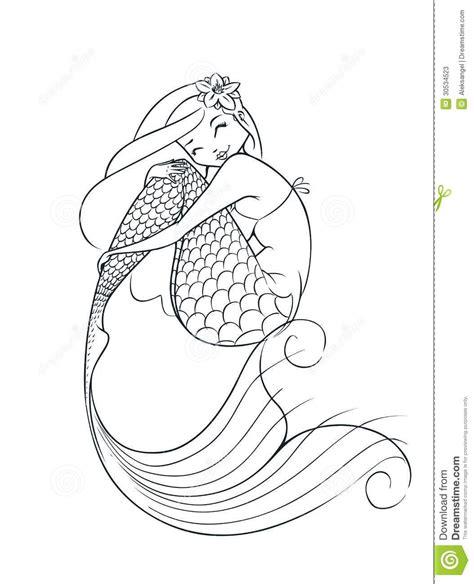 simple mermaid tattoos mermaid outline drawing mermaid