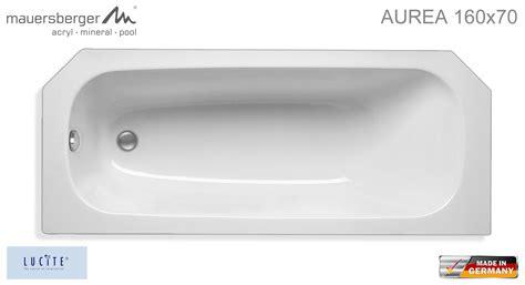 Mauersberger Badewanne Aurea 160 X 70 Cm  Acryl Kompakt