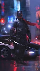 ninja, warrior, 4k, wallpaper, , cyberpunk, , katana, , futuristic