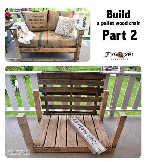 pallet wood patio chair build part 2 funky junk