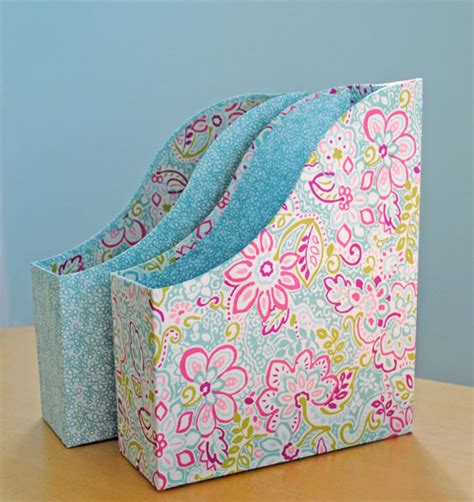 fabric covered boxes fabric covered magazine files tutorial 3650