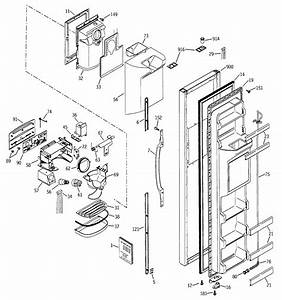 Freezer Door Diagram  U0026 Parts List For Model Gss25jfmbcc Ge