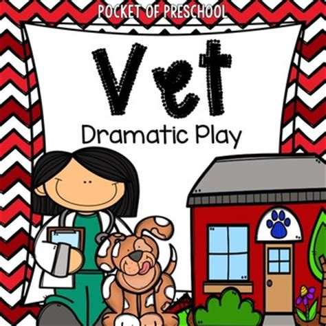 pet vet animal hospital dramatic play  pocket  preschool tpt