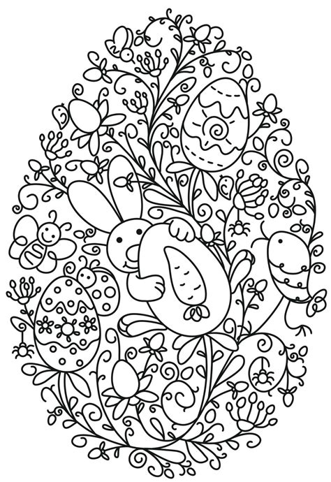 adult easter coloring pages funny easter bunny holding  egg