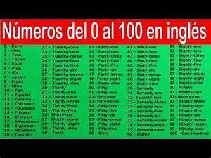 los numeros en ingles del 1 al 100 para ninos full