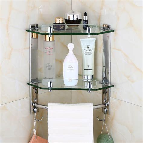 european bathroom glass corner shelf wall mounted shelf