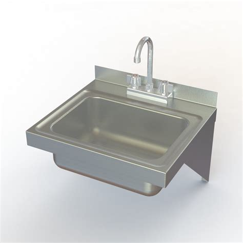 stainless steel wall mount commercial sink aero manufacturing hsef wall mounted stainless steel hand