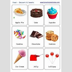 Printable Desserts And Sweets Flashcards  English Words  English Vocabulary Words, Education