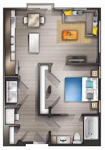 view, layout, small, studio, apartment, design, images