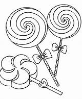 Lollipop Coloring Pages Candy Lollipops Getcoloringpages Swirl Clip sketch template