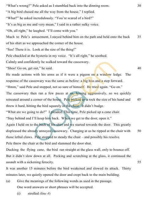 icse class  sample paper    english