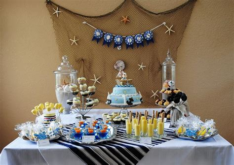Frozen Table And Chair Set by Kara S Party Ideas Nautical Baby Shower Ocean Sea