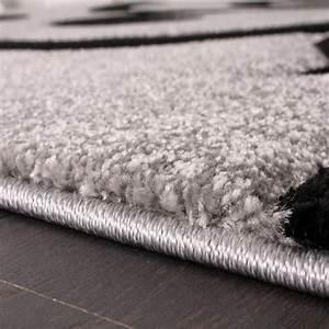 Teppich Grau Schwarz : designer teppich mit konturenschnitt modern grau schwarz teppiche kurzflor teppiche ~ Markanthonyermac.com Haus und Dekorationen