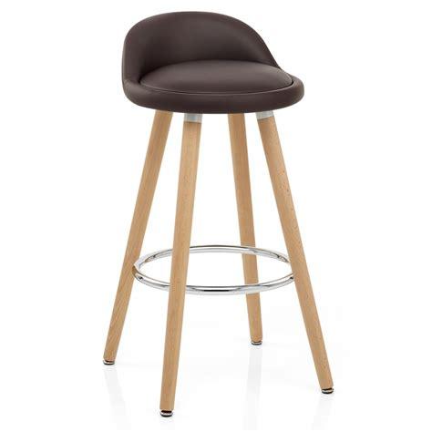 chaise de bar bois chaise de bar bois faux cuir jive monde du tabouret