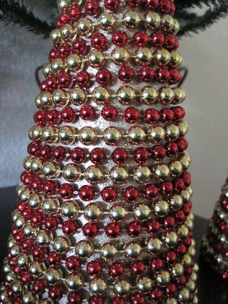 beaded christmas garland cone christmas trees set of 3