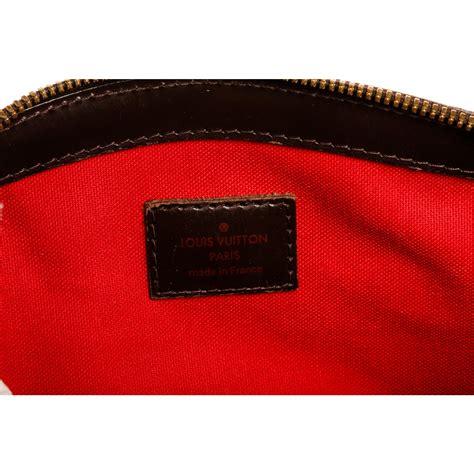 shop  louis vuitton damier ebene canvas leather verona pm bag shipped  usa