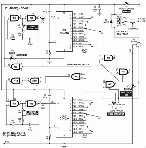Digital Timer Circuit Diagram | Programmable Digital Timer Circuit New Viddyup Com