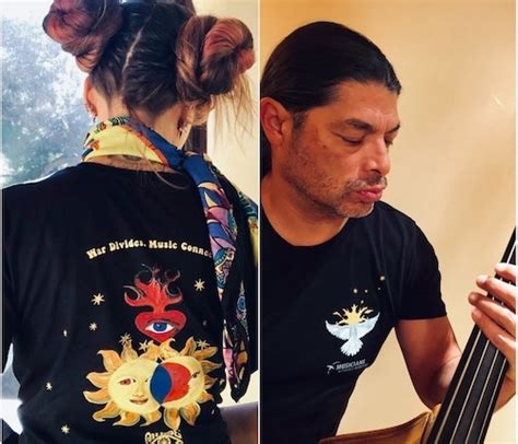 metallica bassist s teams up with musicians without borders to launch limited edition t