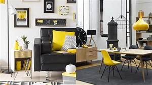 deco salon noir et gris kirafes With deco salon gris et noir