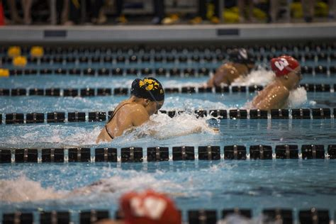 hawkeye swimming concludes shamrock invitational strong