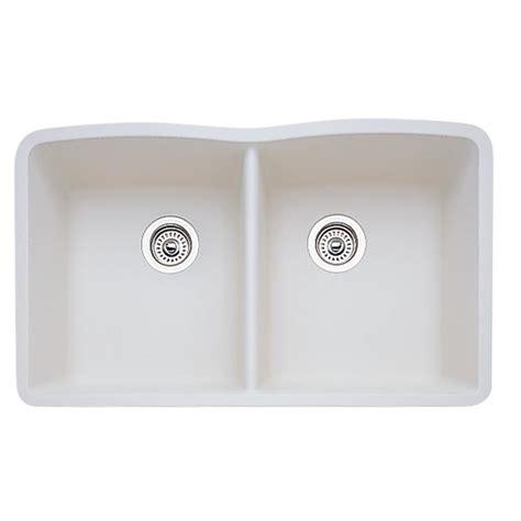 kitchen sinks undermount granite composite blanco undermount granite composite 32 in equal