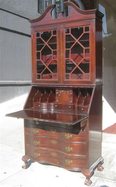 secretarys desk with hutch uhuru furniture collectibles sold mahogany