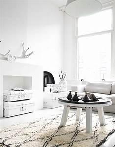 Deco Noir Et Blanc : le noir blanc s invite au salon elle d coration ~ Melissatoandfro.com Idées de Décoration